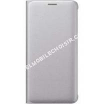 Accessoires<br/> mobile Etui Flip Wallet Galaxy S6 Edge Plus Silver - 3 Suisses